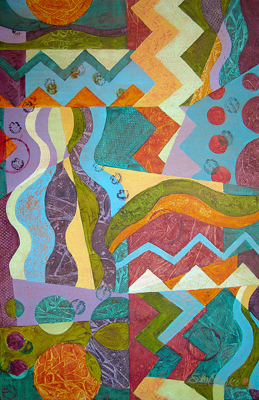 "Abstract Maze (Acrylic, 24"" x 36"" unframed) $499"
