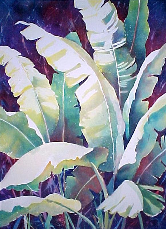 "Banana Plant, matted 8"" x 10"", $29"