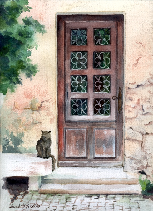 """Standing Guard, matted 14"""" x 18"""", $69"""