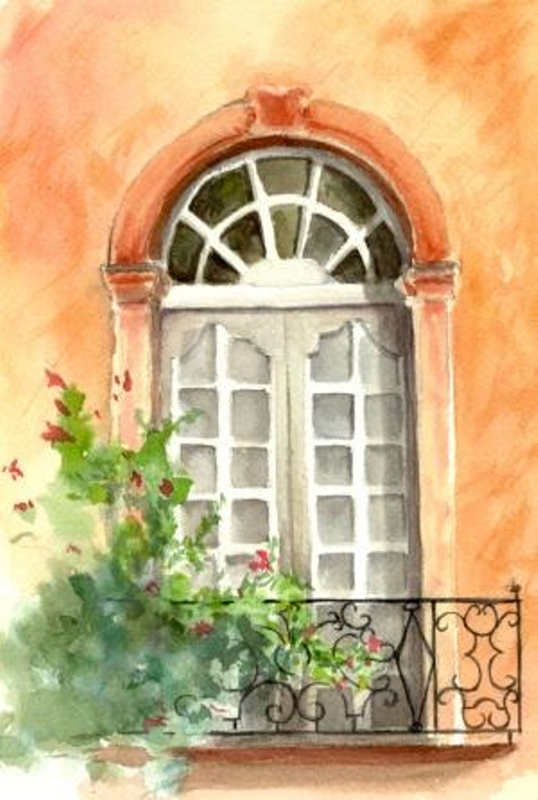 "Window of Roussillon, matted, 8"" x 10"", $29"