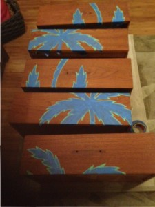 Dresser drawers taped