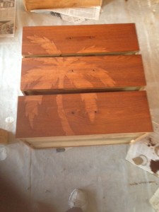 Dresser drawers stained